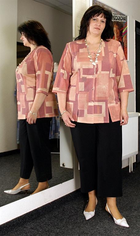 50847a910df 03. Kalhoty v 7 8 délce - gala móda - xxl oděvy - nadměrné velikosti